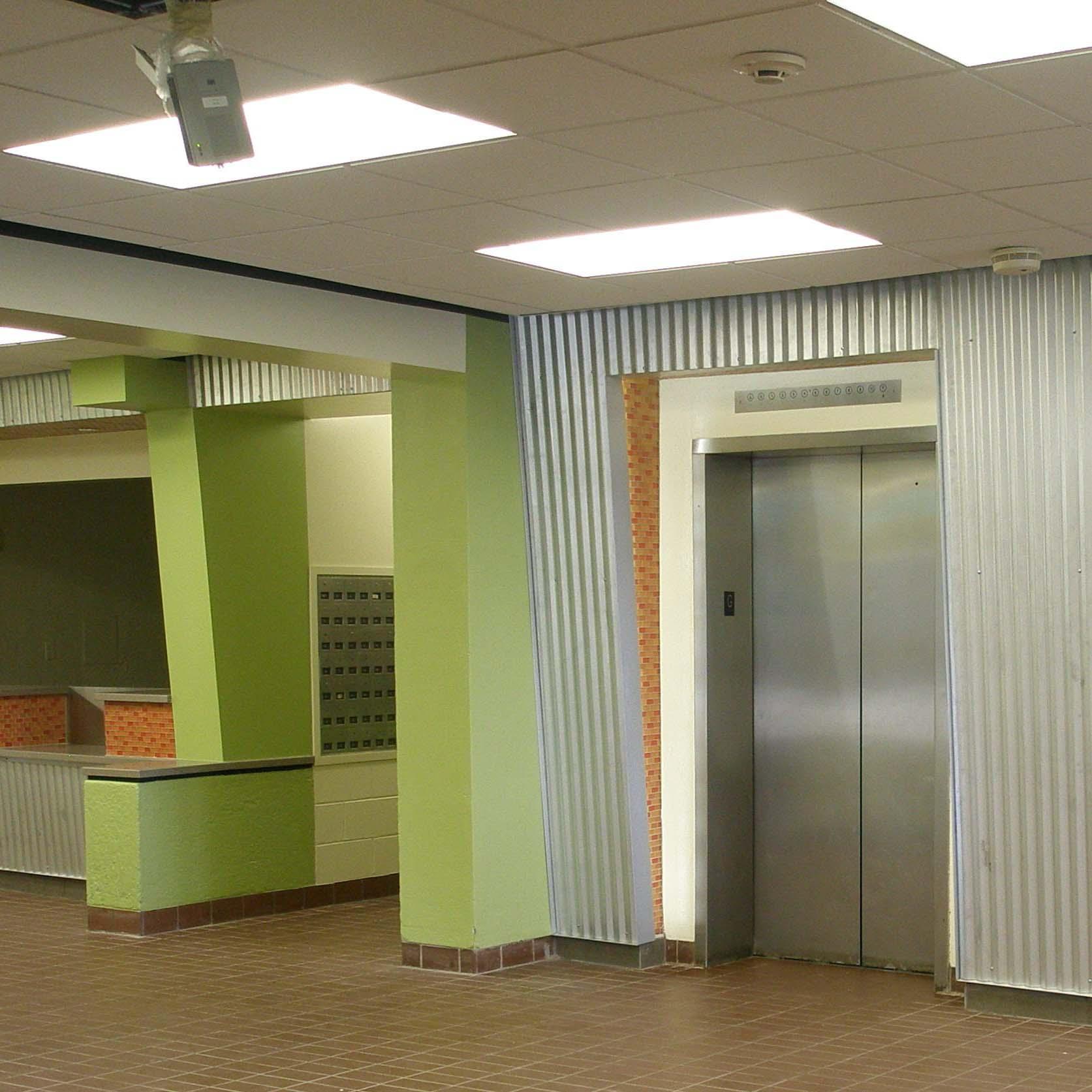 EMU Dorm Elevator Interior Design