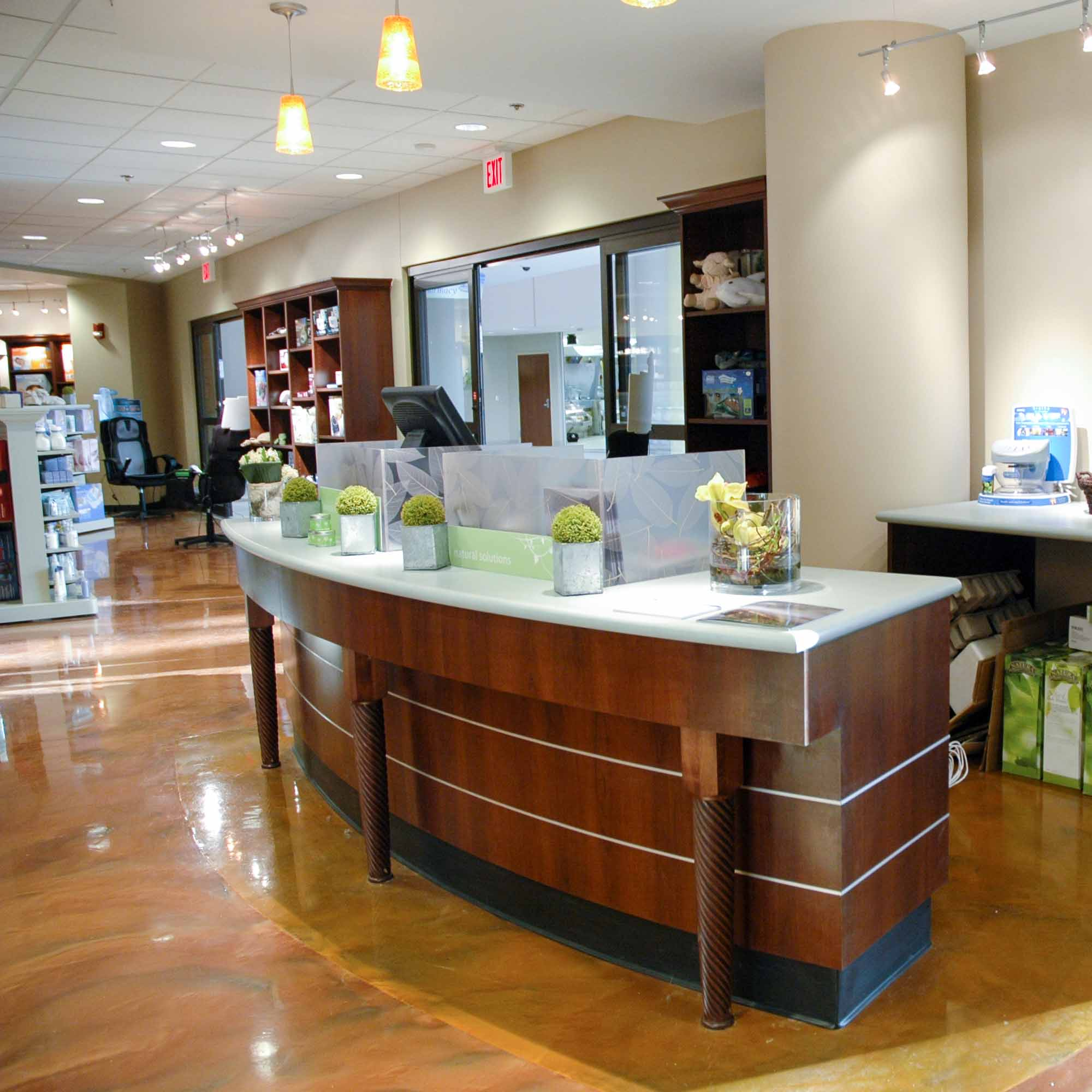 Retail Counter Custom Cabinetry