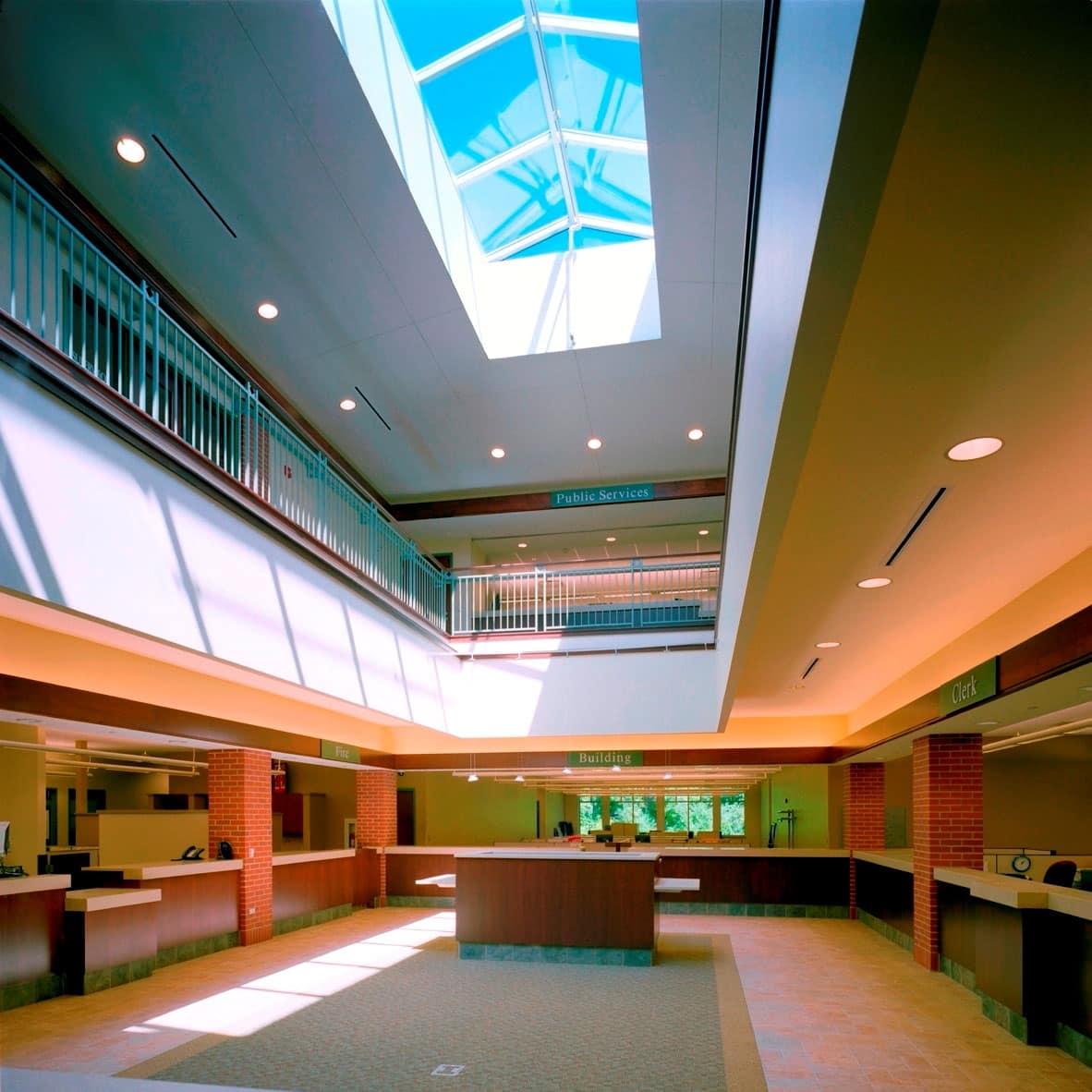 Atrium with Skylights