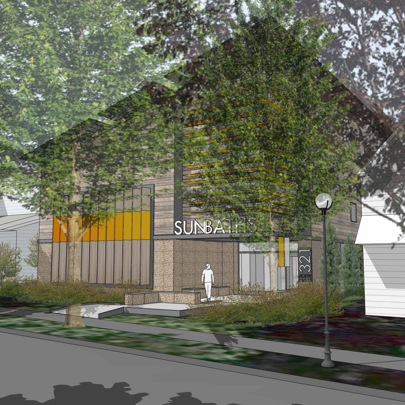 Net Zero Building Rendering