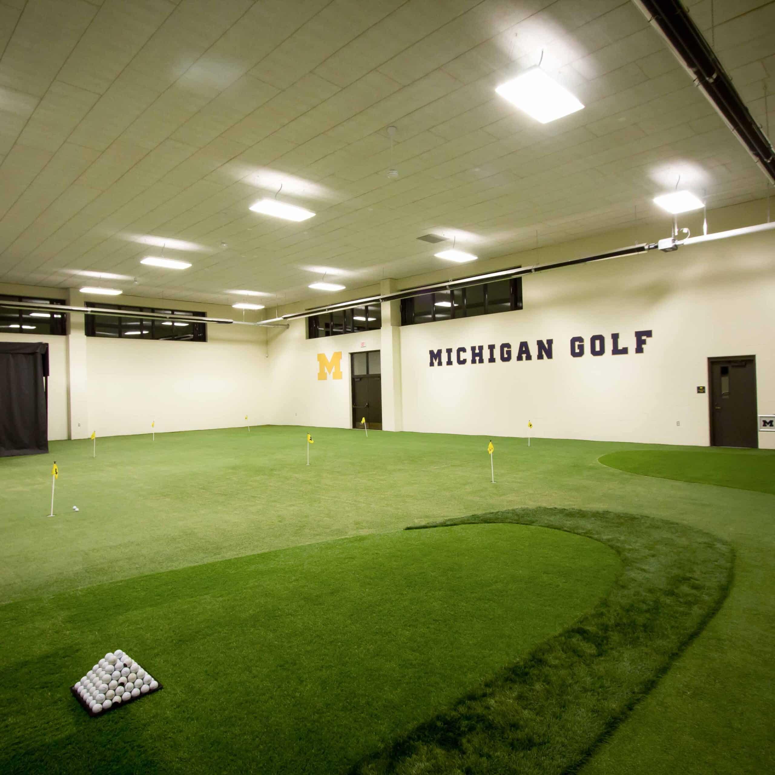University of michigan weisfeld family golf center a3c for Indoor golf design
